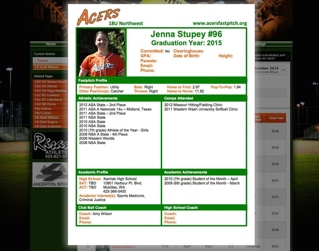 Player Resume PDF