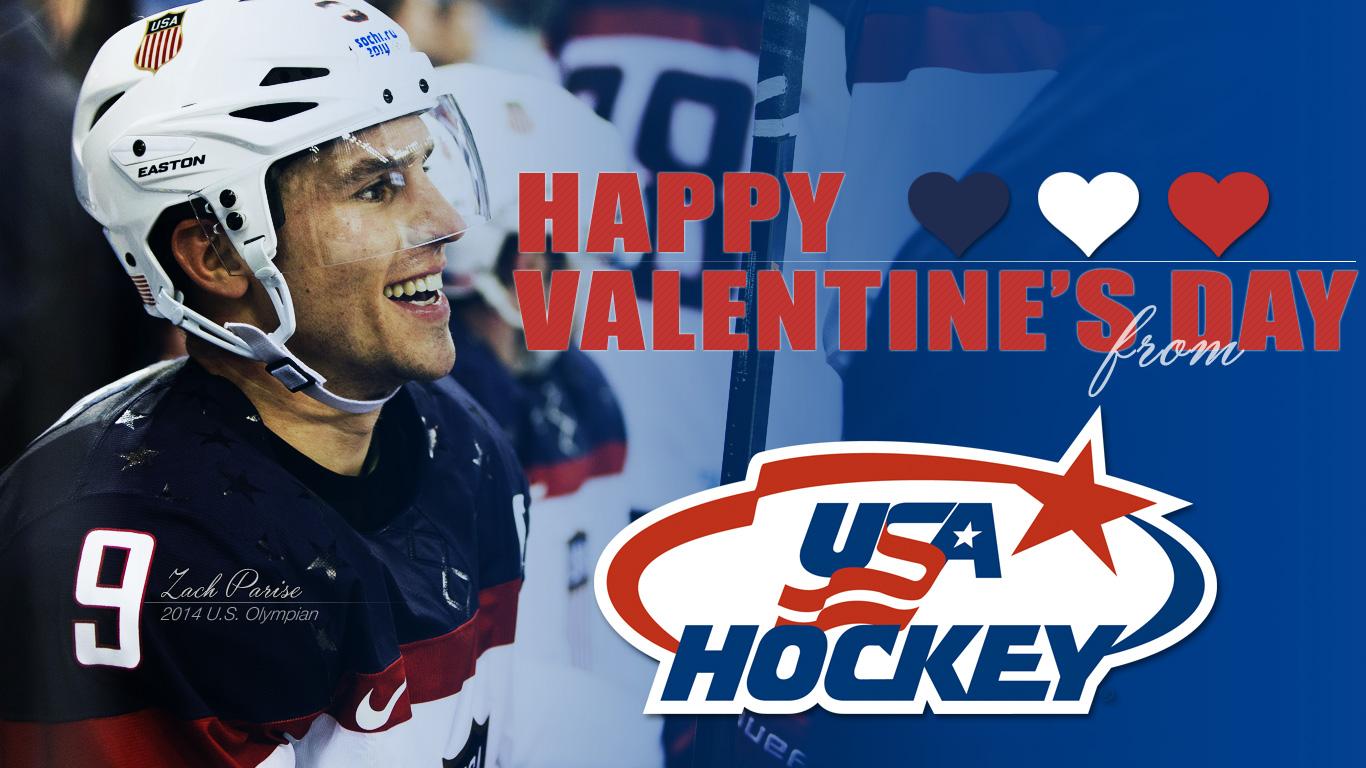 Be My Valentine Share Valentines from USA Hockey – Hockey Valentine Cards