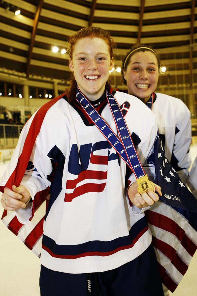 Alev Kelter with her 2009 gold medal.