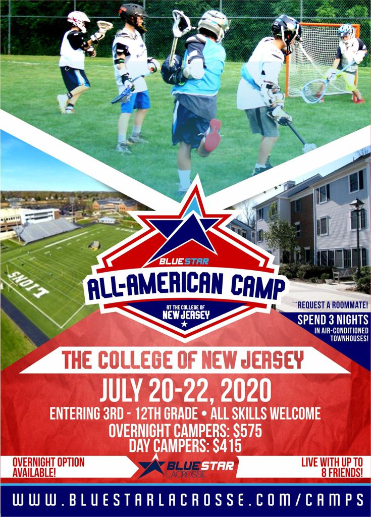 Blue Star Lacrosse All-American Camp at The College of New Jersey Flyer