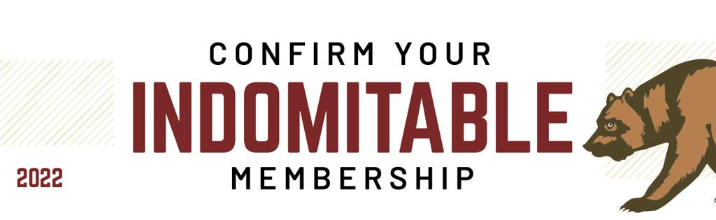 2022 Confirm your Indomitable Membership