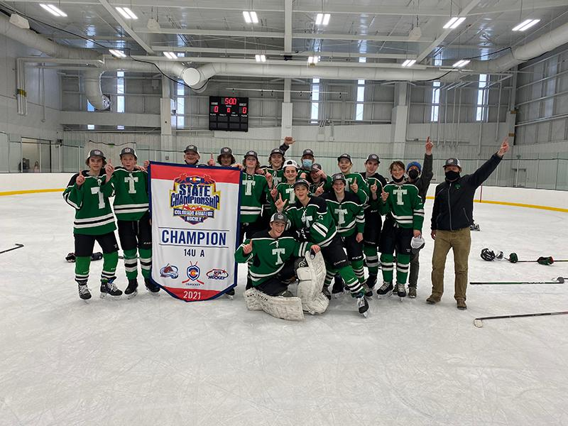 14U A champion Telluride Lizard Heads Hockey Club
