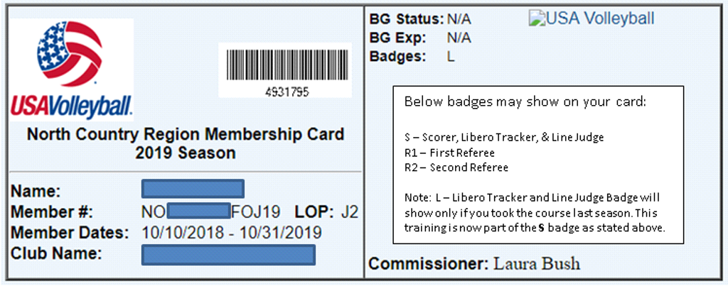 Exemple of Member Card