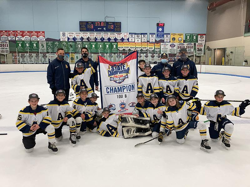 10U B champion Arapahoe Warriors Youth Hockey Association