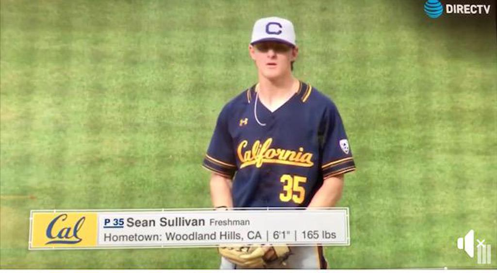 STUDENT SEAN SULLIVAN NOW PITCHING AT CAL BERKELEY. PLAYED IN THE VERY PRESTIGIOUS CAPE COD LEAGUE AFTER HIS FRESH YEAR. STARTED AT AGE 11