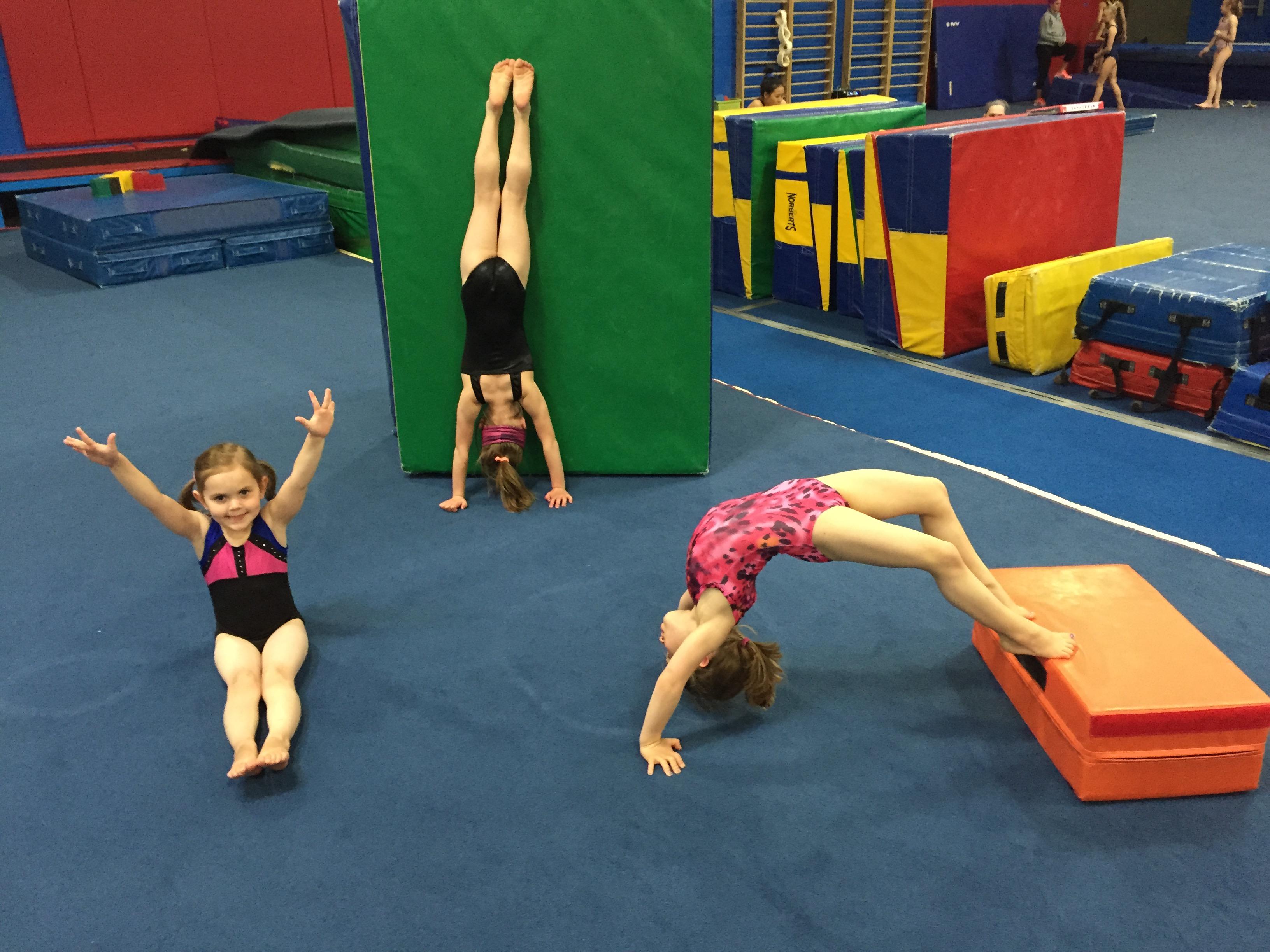 Flips Gymnasts Handstand, Bridge, and Pike Sit