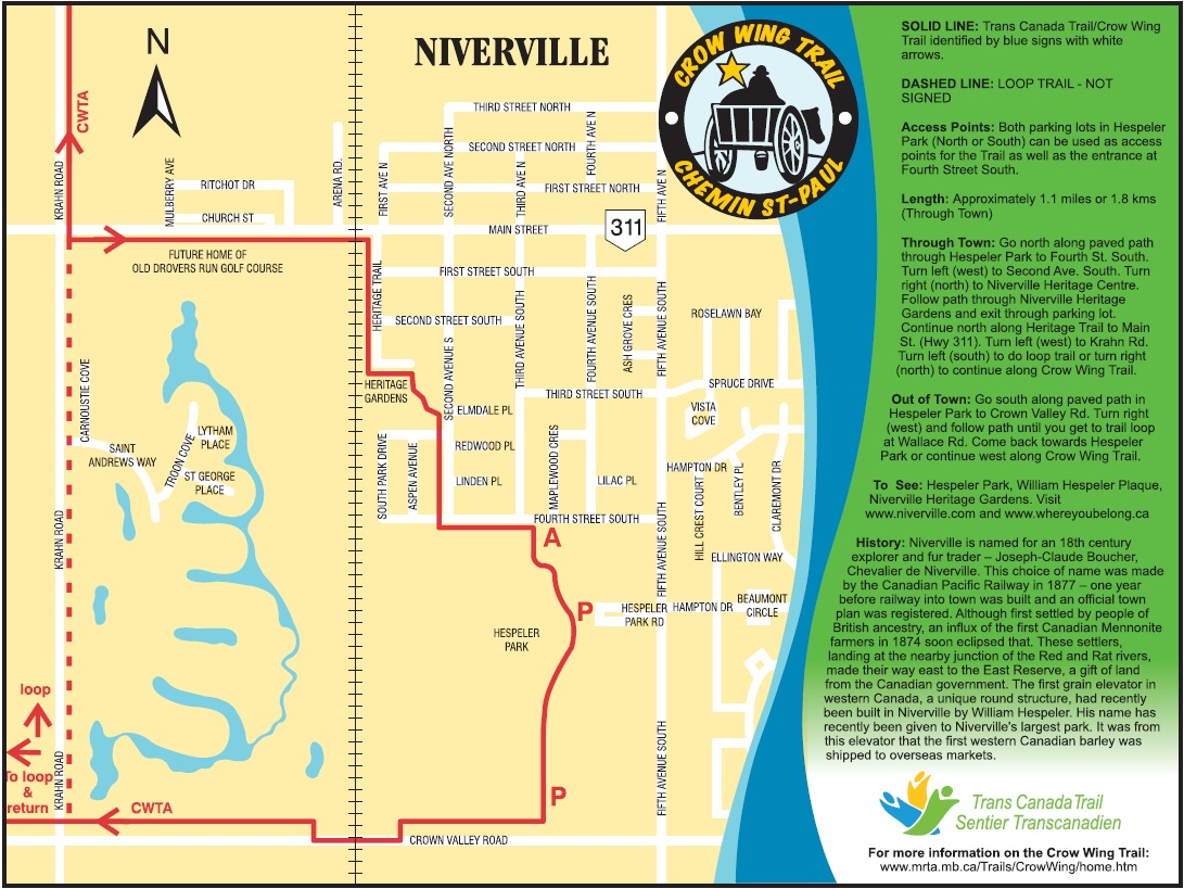 Crow Wing Trail Map
