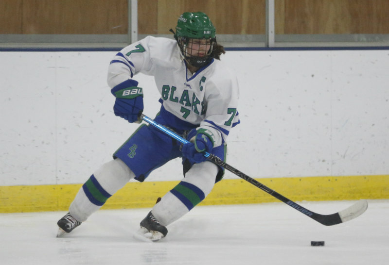 Blake's Lily Delianedis (pictured) is one of three Bears chosen to be a semifinalist for this year's Ms. Hockey award. The finalists will be unveiled later this week. Photo by Jeff Lawler, SportsEngine