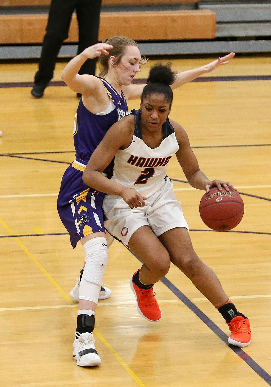 Aja Wheeler (2) led all players with 26 points on Tuesday night, as Robbinsdale Cooper handed Chaska its first league loss with a 75-70 win to avenge a loss earlier in the season. Photo by Cheryl Myers, SportsEngine