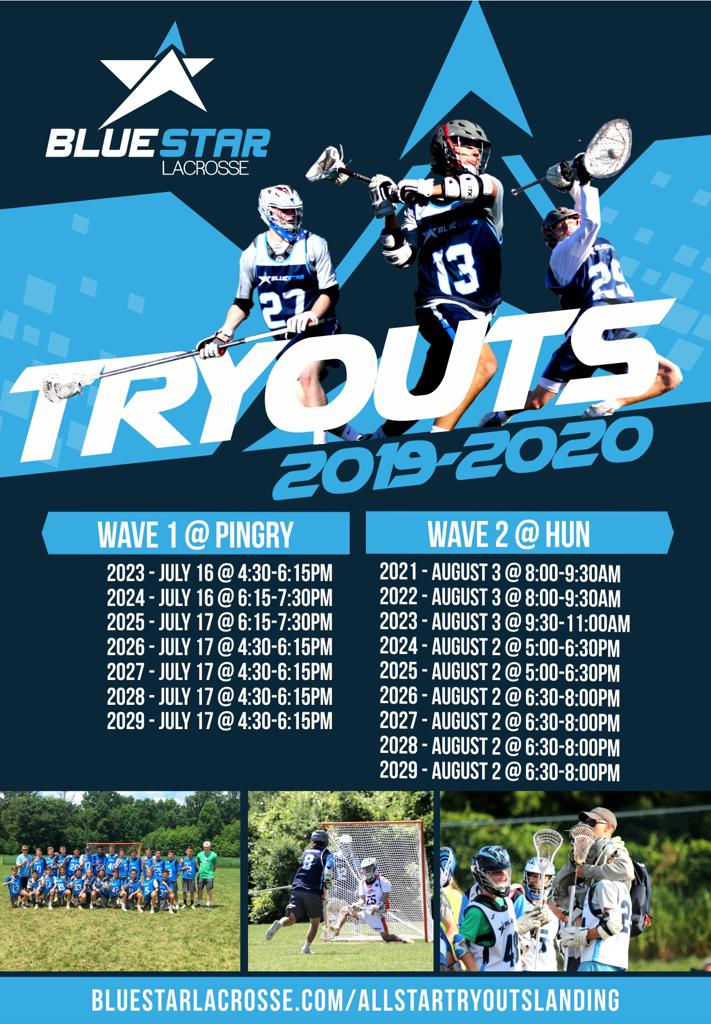 Blue Star Lacrosse Tryouts 2019-2020