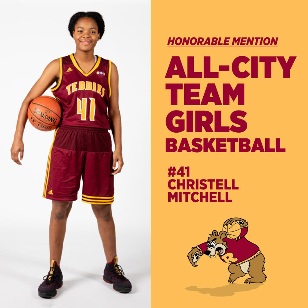 Christell Mitchell, Minneapolis Roosevelt Girls Basketball, All-City Team Honorable Mention