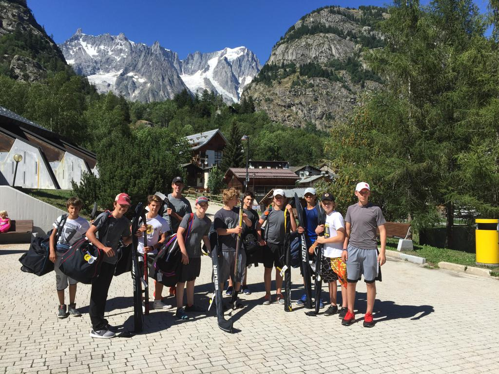 United AAA team at Mont Blanc, Italy