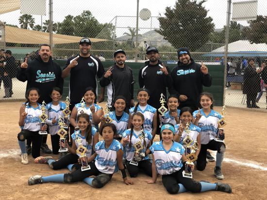 10u Camarillo Jessica Mendoza Tournament Champions 2019