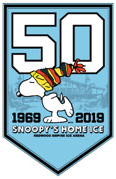 Snoopy's Home Ice 50th Anniversary Logo