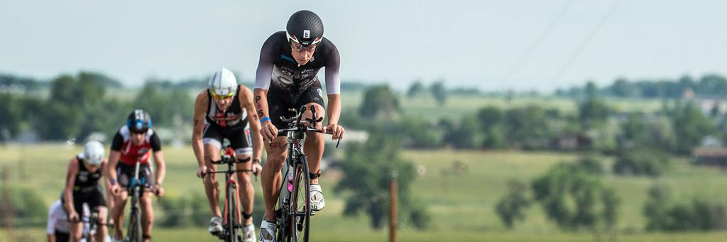 Bikers at IRONMAN 70.3 Boulder
