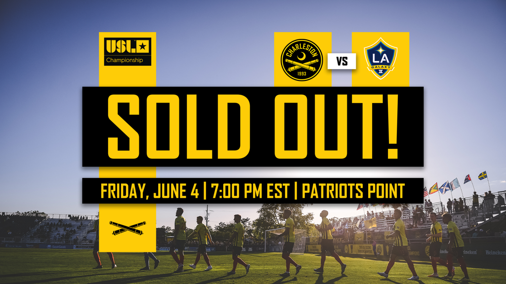 Battery June 4 Match against LA Galaxy II is sold out