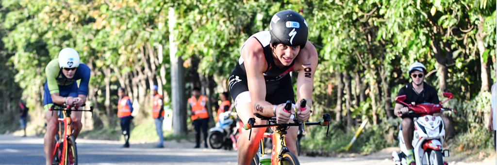 Biker participating in 5150 Davao