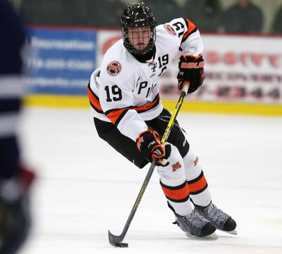 Moorhead's Will Borgen was a fourth-round selection of the Buffalo Sabres in the 2015 National Hockey League Draft. Photo credit: Rick Westra.