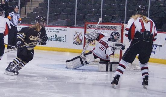 Goaltending will be critical for Eden Prairie in its November 14 game versus Hill-Murray. Photo credit: YHH.