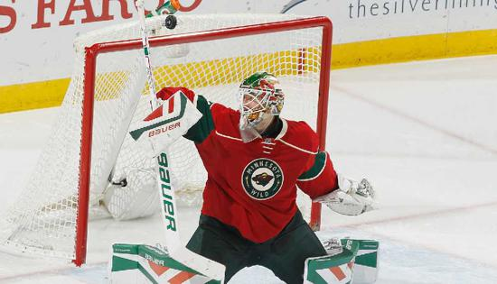 Goaltender Devan Dubnyk made 31 saves in the Wild's 1-0 victory over Tampa Bay on Nov. 7. Photo credit: Wild.com.