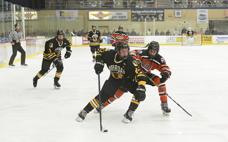 Warroad, the last of the state's unbeaten teams, puts its perfect record on the line Thursday against longtime rival Roseau. Photo by Tim Kolehmainen, Breakdown Sports Media