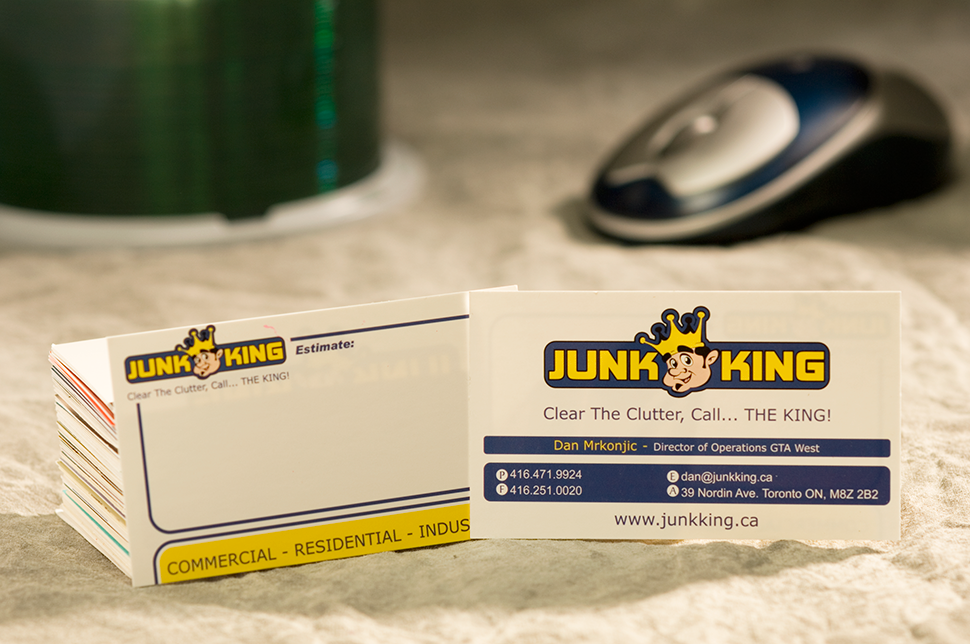 Mississauga Business Card Design by Kevin J. Johnston - Junk King
