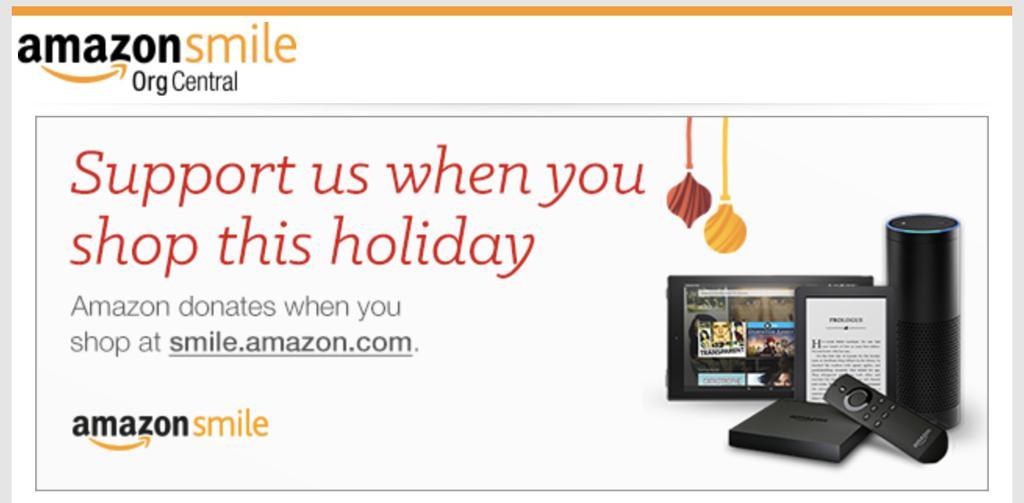 Amazon Smile Holiday Banner