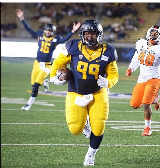 Ex- Irvine Charger Malik Morris of CAL for the TD