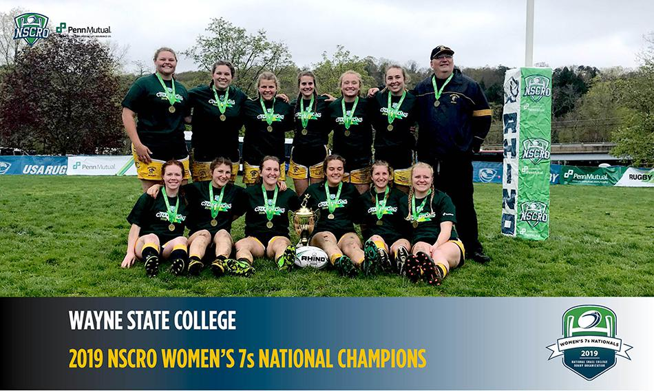 2019 NSCRO Women's 7s National Champions, Wayne State College