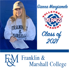 Gianna Mangiamele - Team VB RAGS Class of 2021