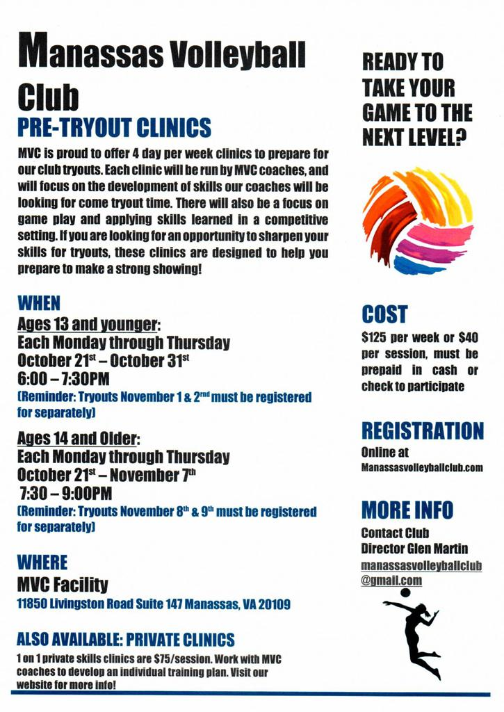 PRE - TRYOUT CLINICS