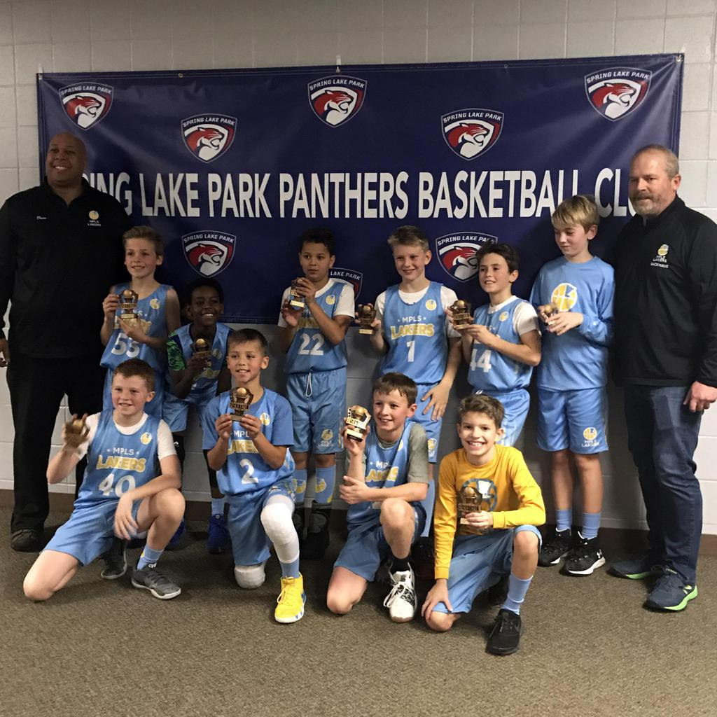 Boys 5th Grade Gold take 3rd Place at Spring Lake Park Panther Classic