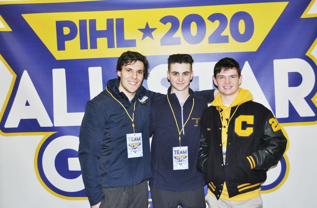 PIHL 2019-20 All-Stars Michael Sewecke, CJ Simione and Dayne Martin
