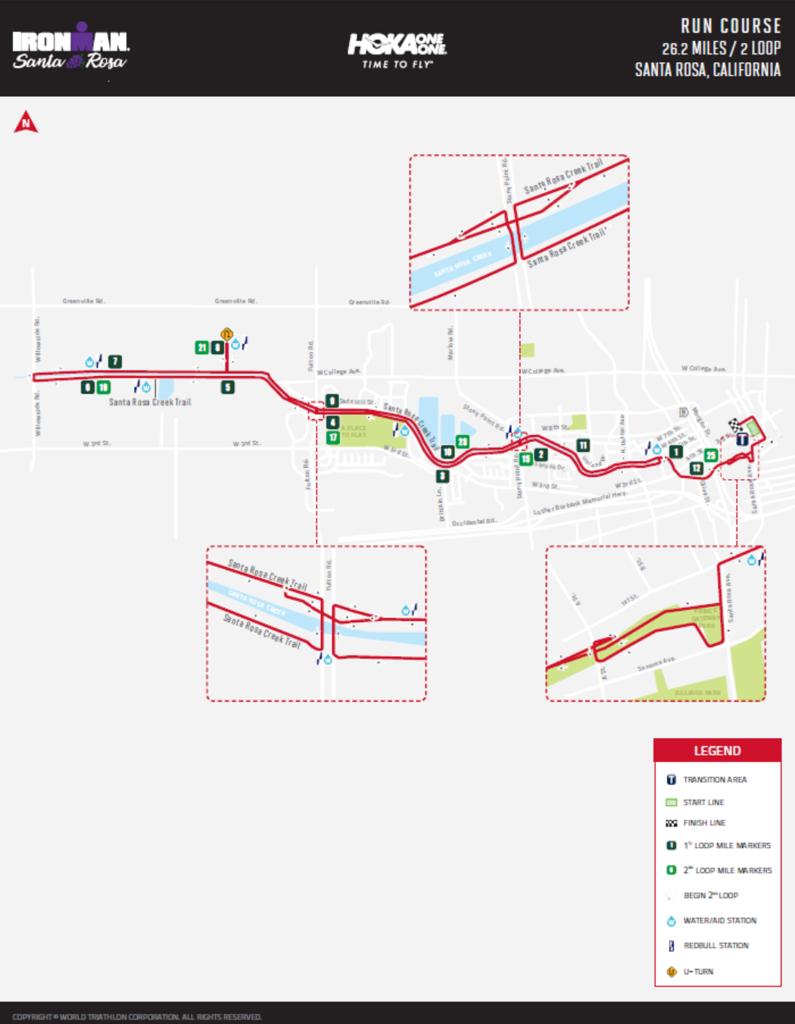 Run Course Map IM Santa Rosa