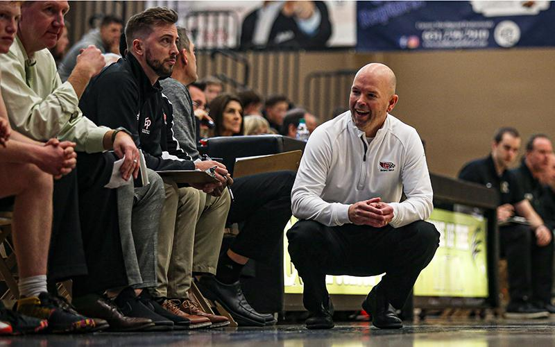 Eden Prairie's talented and experienced roster has given coach David Flom plenty of reasons to smile during his team's 10-0 start. The Eagles will be challenged by a familiar foe in Wayzata Friday. Photo by Mark Hvidsten, SportsEngine