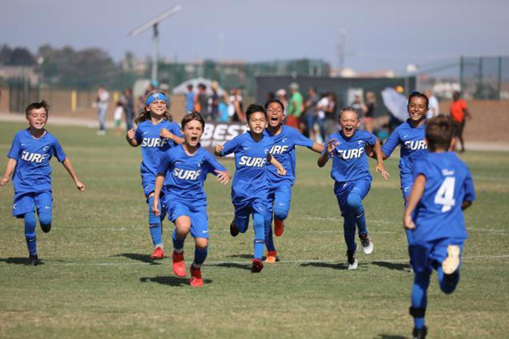 boys running together