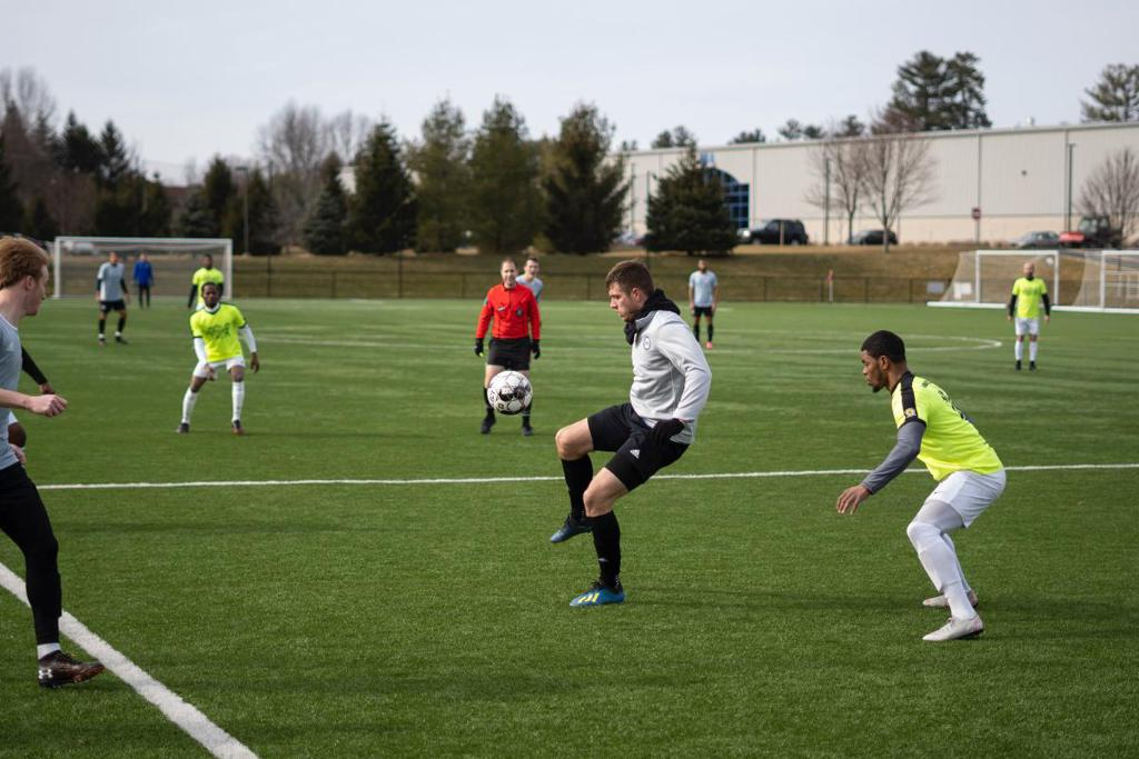 Mac Steeves (above) scored twice this week, including the game winning goal against New York Red Bulls II