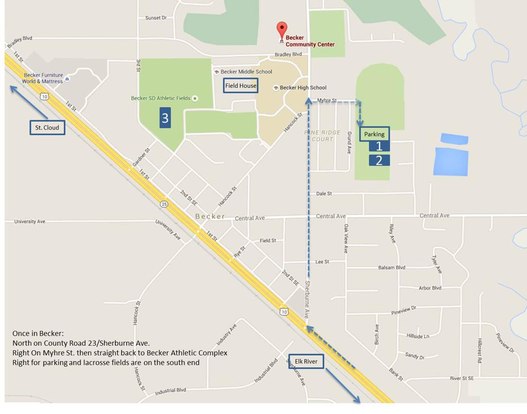 Becker Lacrosse Field Locations