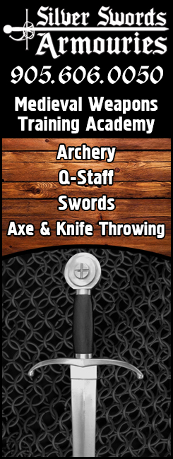 silver swords armouries in oakville - learn swords and archery - archery terminal - battle archery - quaterstaff training, and sword fighting lessons in Oakville, Ontario with Silver Swords Armouries