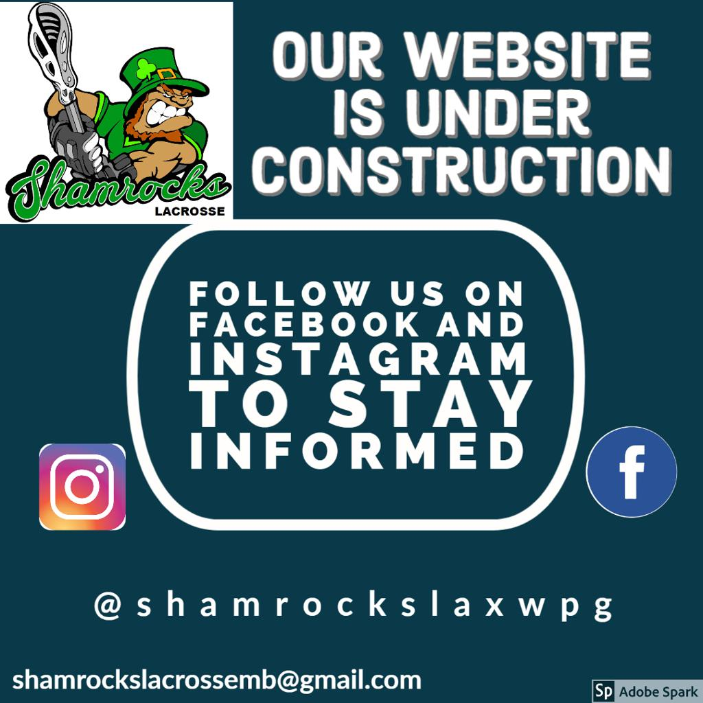 Shamrocks Lacrosse Website is under construction