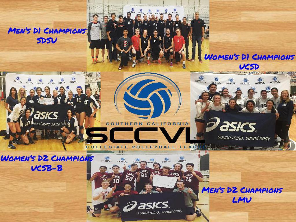 SCCVL 2016 Championship Winners