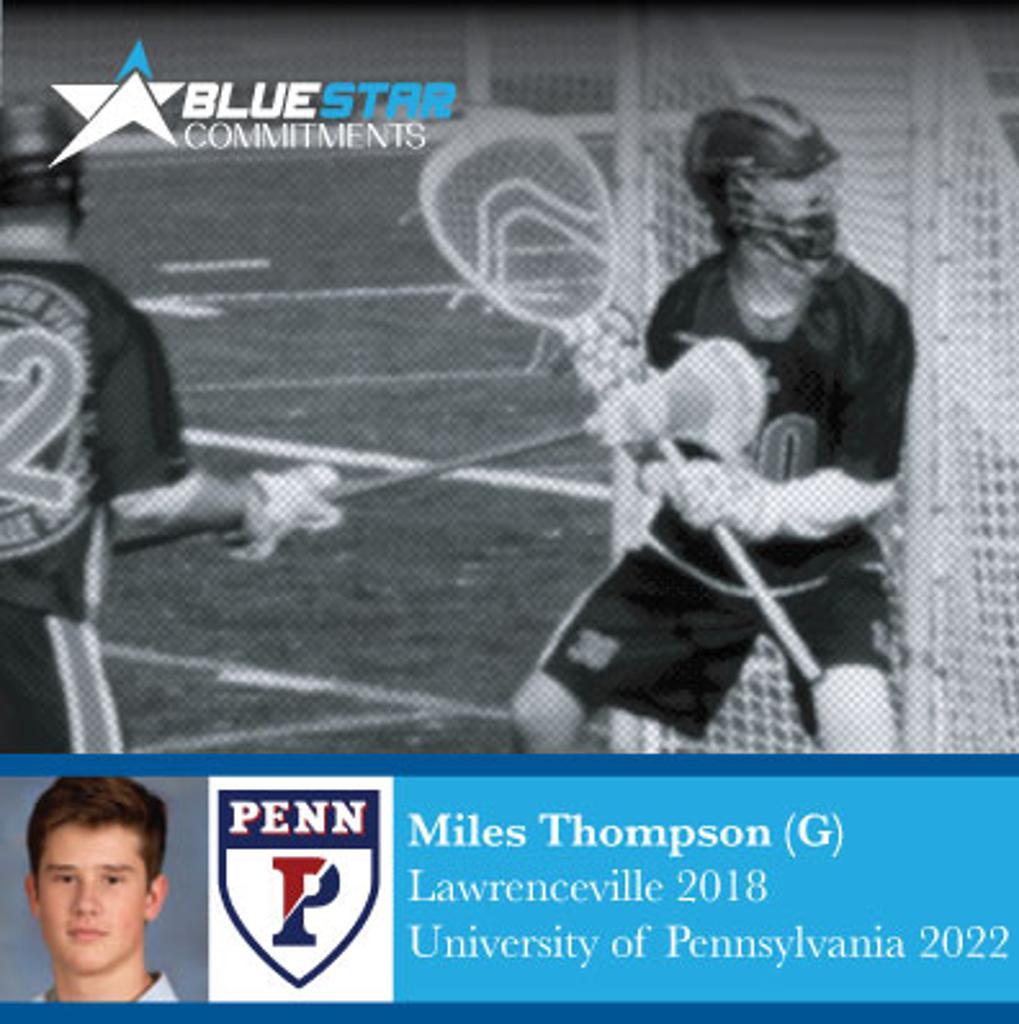 Miles Thompson Blue Star Lacrosse