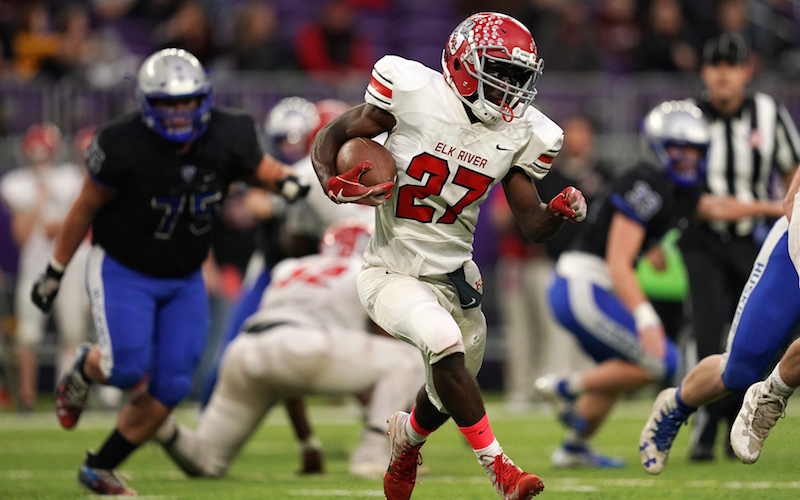 Elk River heads into Friday's matchup against Buffalo with an offense firing on all cylinders, as the Elks' running game scored eight touchdowns last week. Photo by Anthony Souffle, Star Tribune