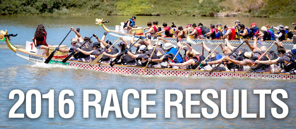 2016 Nevada Dragon Boat Race Results