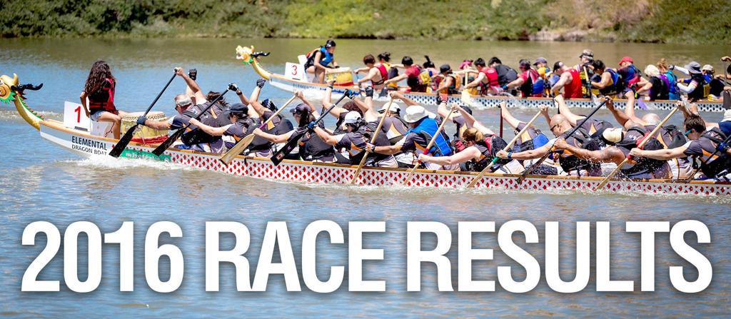 2016 Nevada Dragon Boat Race Results
