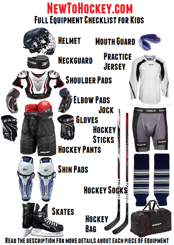 how to properly put on hockey equipment
