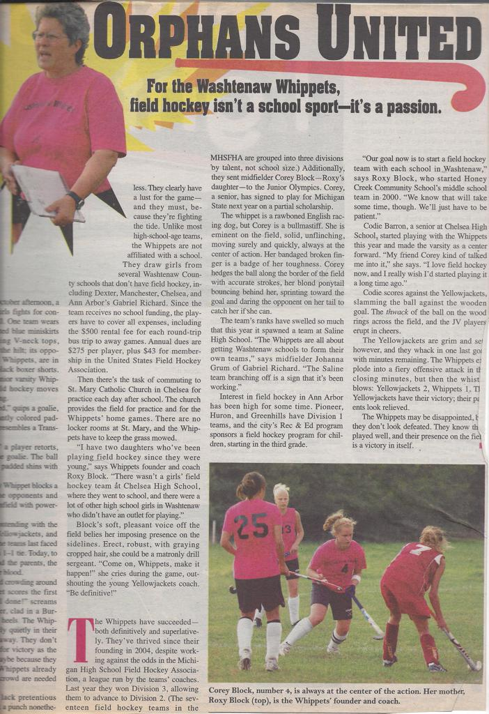 Orphans United article in Community Observer