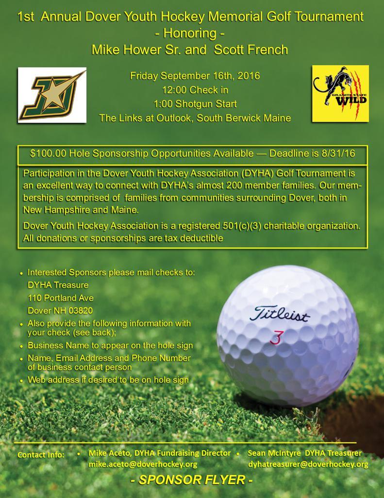 Dyha Golf Tourney Sponsors