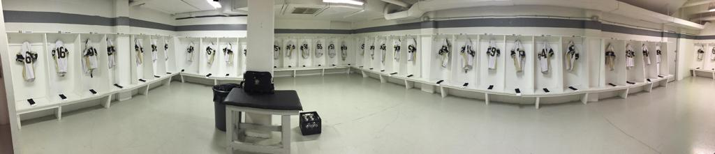Our Away Game Dressing Room