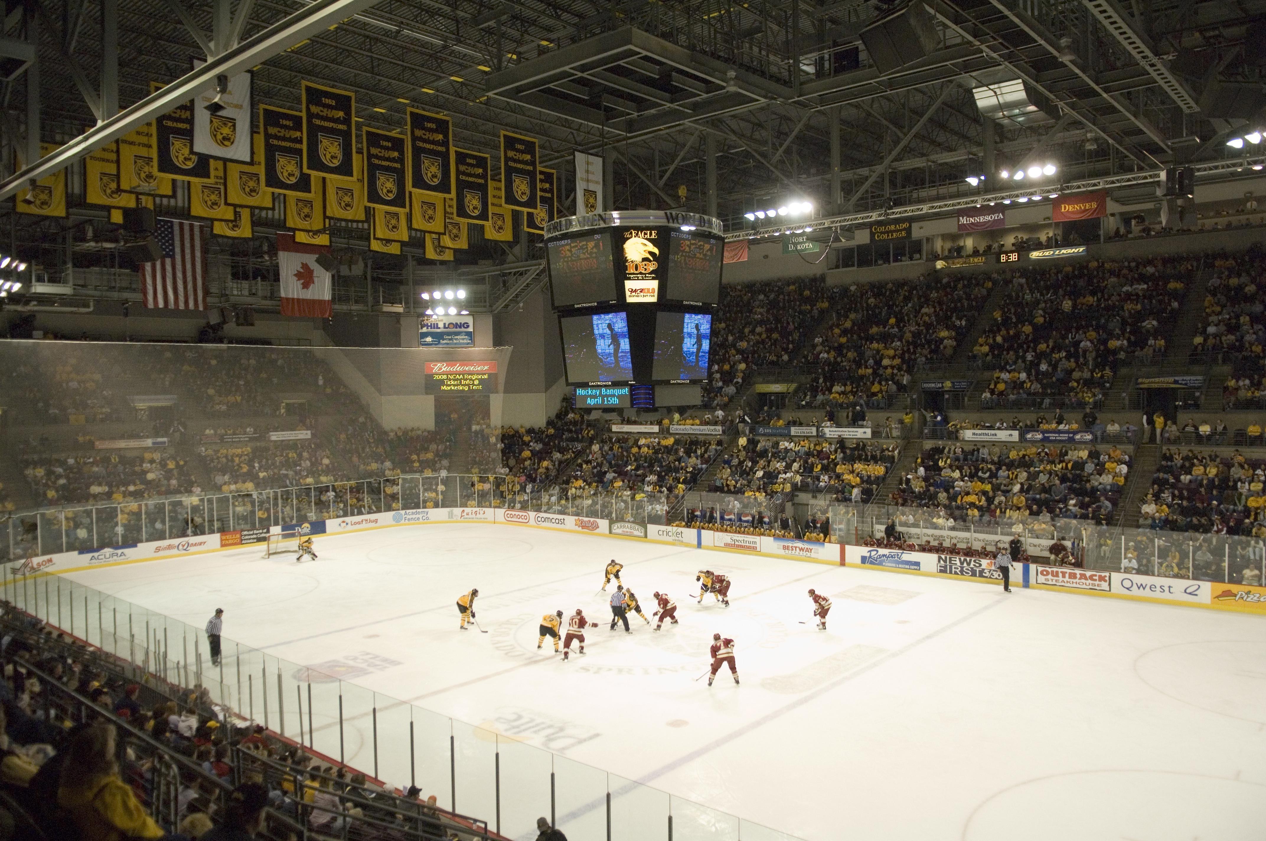 Colorado College – Map World Arena Colorado Springs